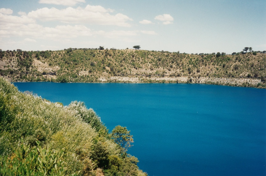 Blue Lake, Mt. Gambier, South Australia. Google it!