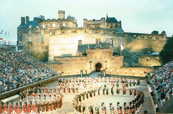 Edinburgh Military Tattoo. Edingurgh Castle. Edinburgh, Scotland.