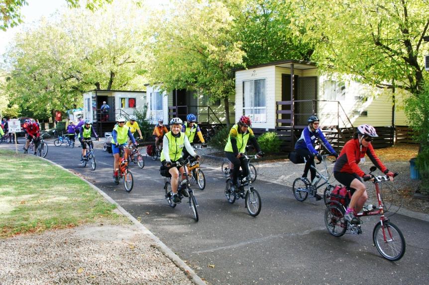 Wangaratta, Victoria. Bike Friday Ride.