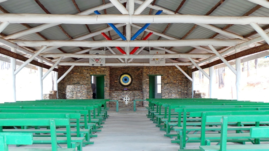 WWII St. Christopher's non denominational open air chapel built in 1943 by US soldiers at an R&R and convalescent camp at Nerimbera near Rockhampton.
