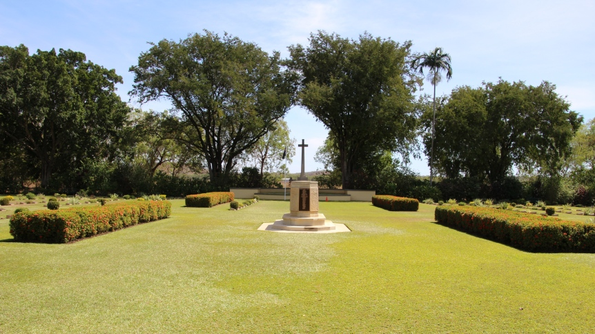Adelaide River War Memorial where the first Australian citizens killed in WWII on Australian soil on 19th February 1942 are buried alongside WWII service men and women.