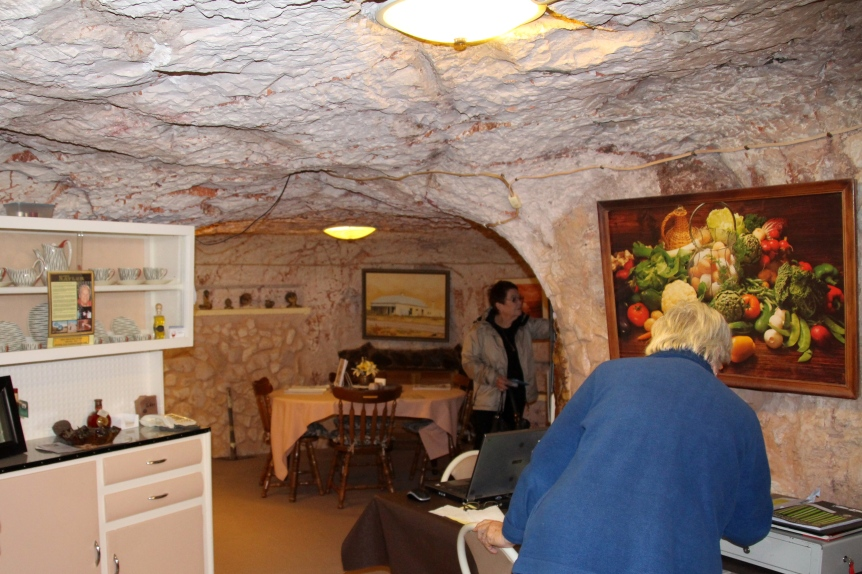 An underground home. The temperature in these underground homes stays at 24 degrees C (72F) all year round despite desert extremes of cold and hot weather.