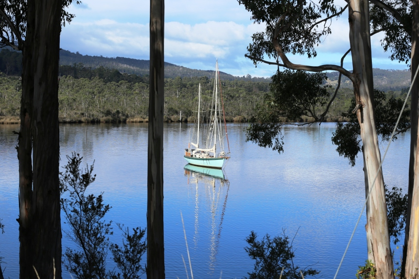 Huon River at Franklin.